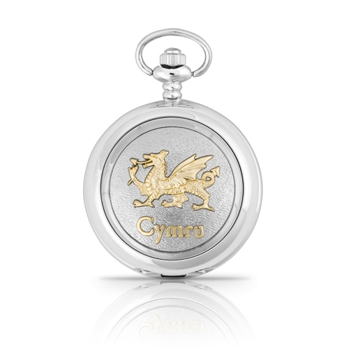Two Tone Cymru Pocket Watch