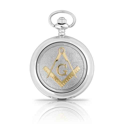 Two Tone Masonic G Mechanical Pocket Watch