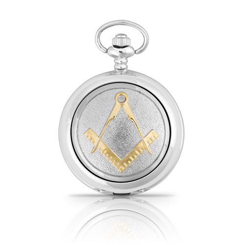 Two Tone Masonic Mechanical Pocket Watch