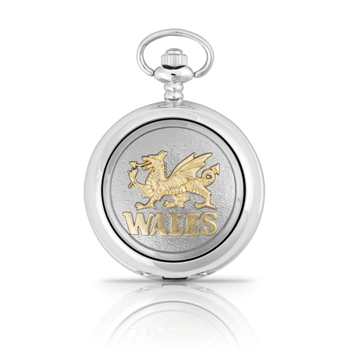 Two Tone Welsh Dragon Mechanical Pocket Watch