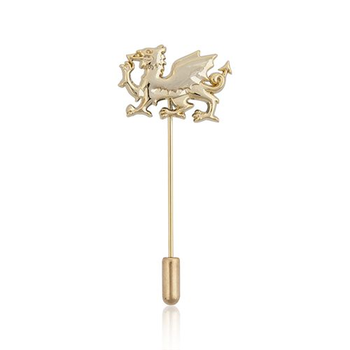 Welsh Dragon Gold Plate Cravat Pin