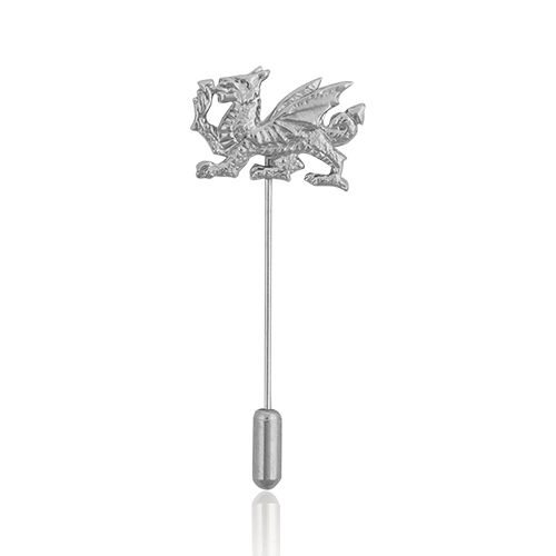 Welsh Dragon Pewter Cravat Pin