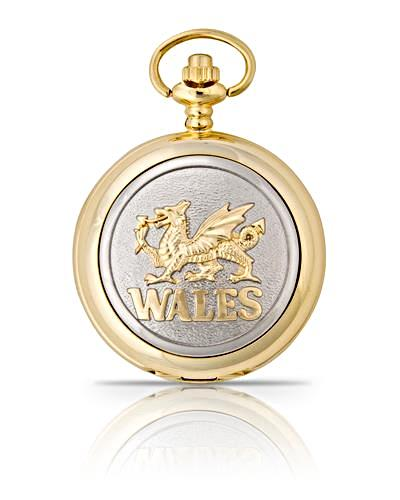 Welsh Dragon Pocket Watch Gold