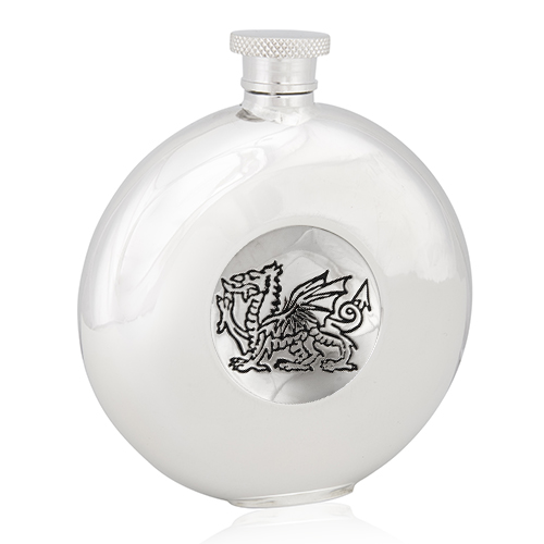Welsh Dragon Round Flask